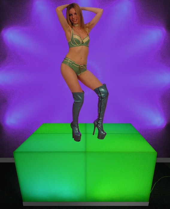 LED Lighted Acrylic Dance Platforms