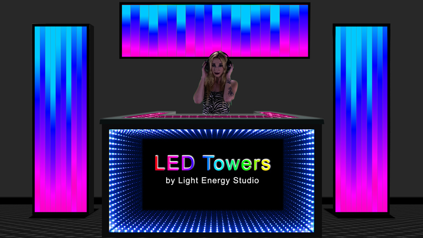 LED Towers - 80 inch Tall LED Displays