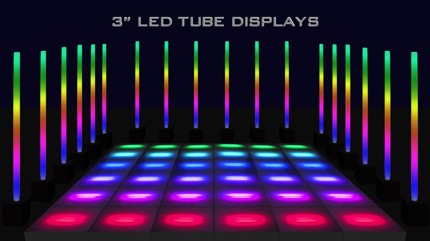 Acrylic Tube And Acrylic Column Led Displays