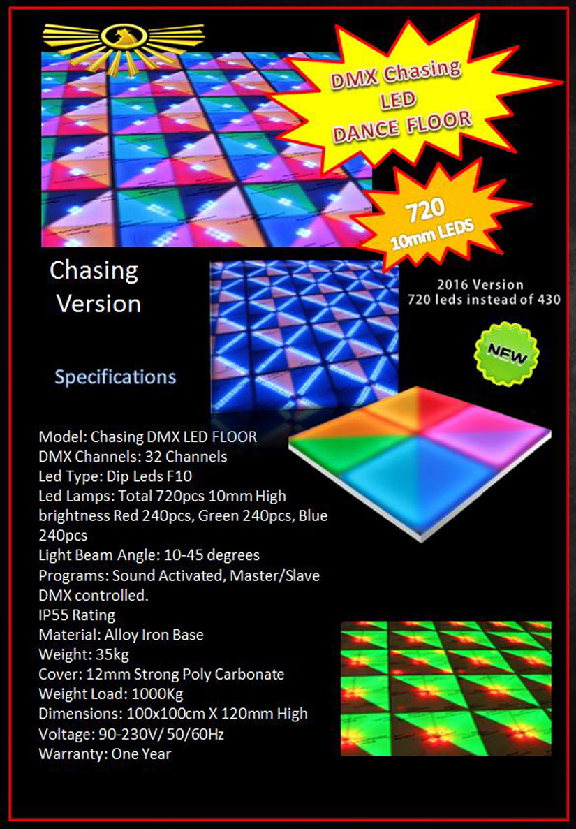 Asia Dmx Led Dance Floor With Or Without Chasing Effects 10 Dancing Leds Economy Made In