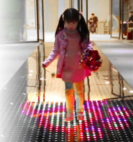 Interactive Dance Floor With Touch Sesitive And Abstract