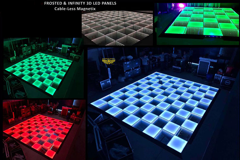 Frosted and Infinity 3D LED Panels