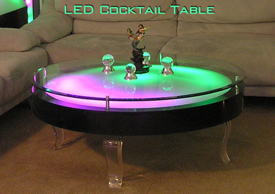 48 LED Cocktail Table