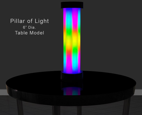 Pillar of Light Acrylic LED Column