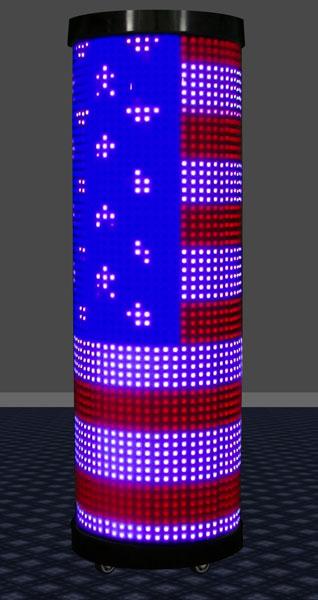 Acrylic Pillar Of Light 24 Inch Round Led Lighted Columns