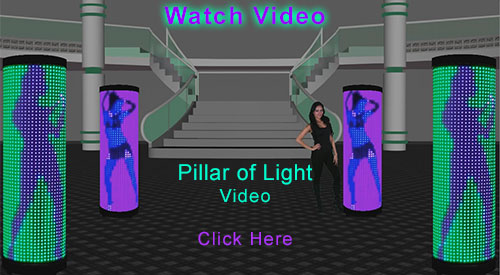 Click Here to Watch  Video of  the  Pillar of Light LED Display