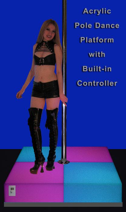 Acrylic And Aluminum Led Pole Dance Platforms