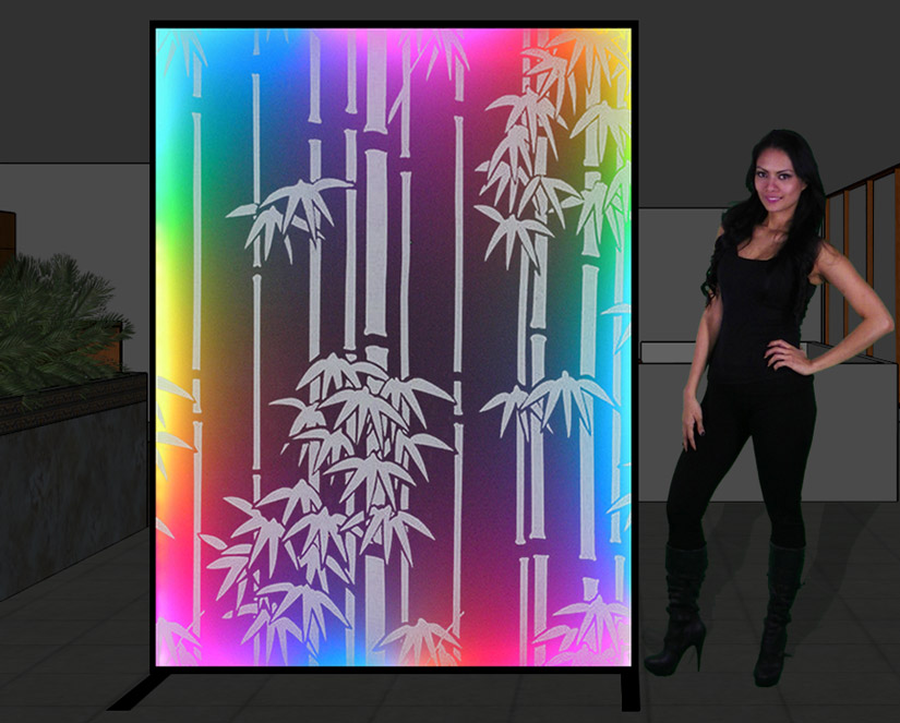 LED Lighted Room Dividers and Space Partitions