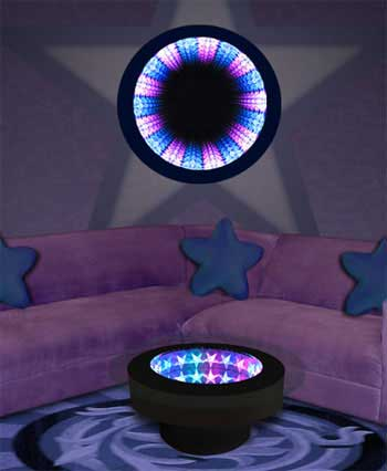 Acrylic Star Infinity Mirror Table and Wall Display